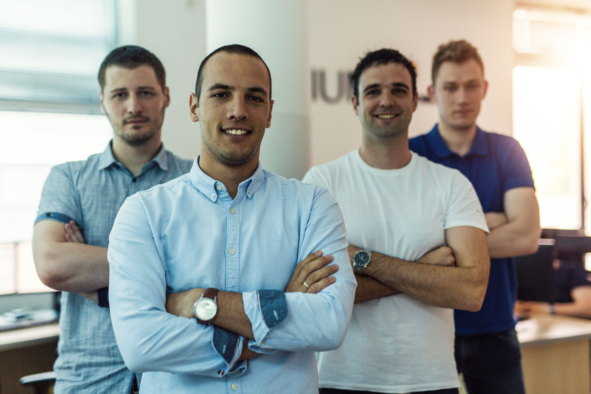 Group of young perspective It experts posing